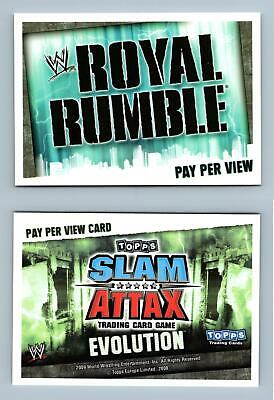 Royal Rumble - WWE Slam Attax Evolution 2009 Topps TCG Card