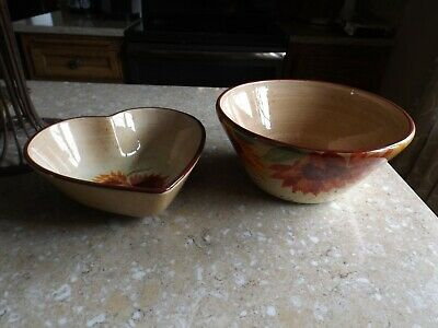 Pfaltzgraff Evening Sun Heart Shaped and Round Serving Bowls