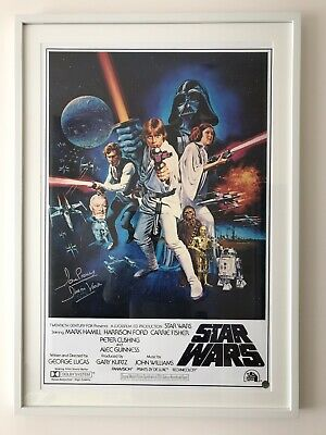 Star Wars Signed Poster A New Hope David Prowse Darth Vader Coa Mint Autographed