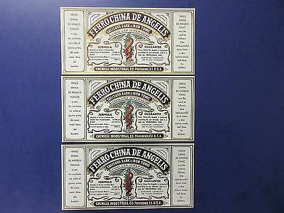 3=Old And Original Prohibition Prescription Medicine Bottle Labels