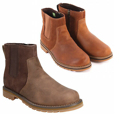 Mens Timberland Larchmont Chelsea Side Zip Up Classic Boots Sizes 6.5 to 13.5