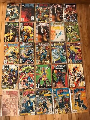 25 Vintage Assorted Marvel Comic Books Bagged Various Series Years Estate Lot 3