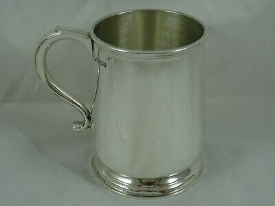 QUALITY,  solid silver PINT TANKARD, 1936, 371gm