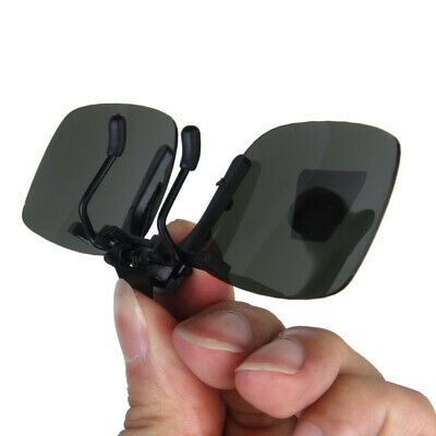 Polarized Flip Up Clip On Sunglass Myopia Glasses Lens UV400 Driving Outdoor
