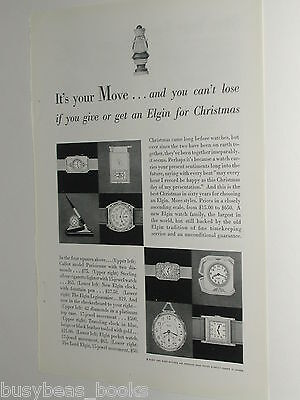 1929 Elgin Watch ad, Wristwatch, table clocks etc