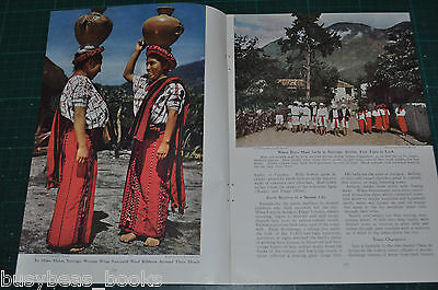 1947 magazine article GUATEMALA, people, history, etc, color photos