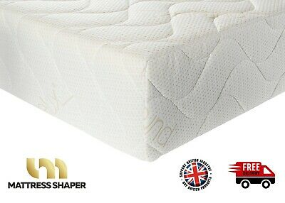 PURELUX QUILTED Memory Foam Mattress Topper Washable  3 Way Zipped COVER ONLY