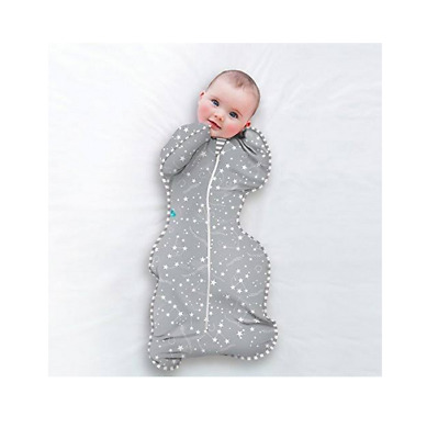 Brand new Love to swaddle up bamboo original 1 tg grey stage 1 medium 6 to 8.5kg