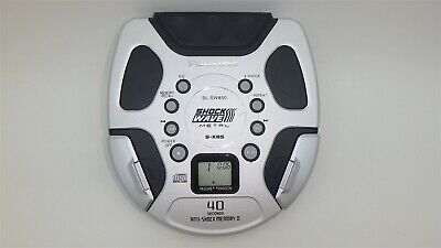 Silver Metal Rugged Panasonic SL-SW850 ShockWave Portable CD Player