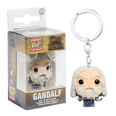 New The Lord Of The Rings Gandalf Pocket Pop Figure Keychain Funko Official