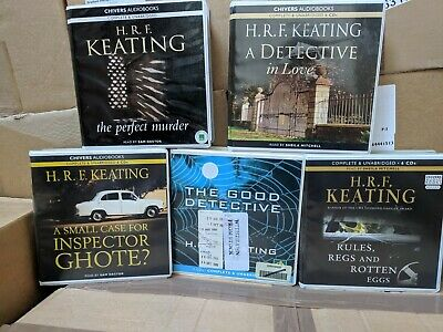 Collection of 5 H.R.F Keating CD Audiobooks
