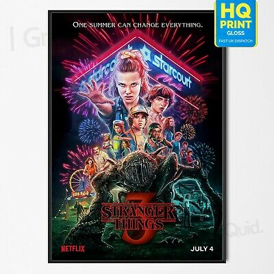 STRANGER THINGS - SEASON 3 POSTER UK TV Home Decor - ALL SIZES