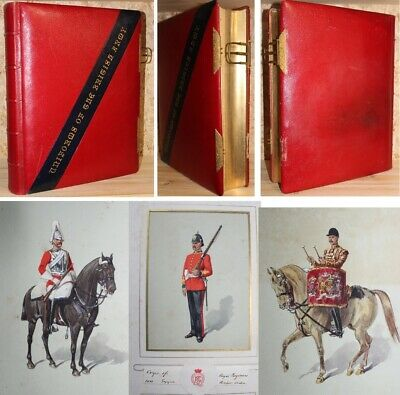 Uniforms of the British Army 180 fines planches aquarellées Halford Bros reliure