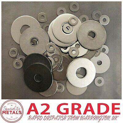 Penny Repair Washers Mudguard Washer M4,M5,M6,M8,M10,M12 A2 Stainless Steel