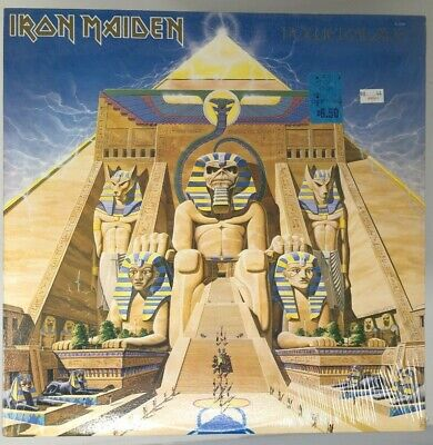 IRON MAIDEN Powerslave CAPITOL Textured FACTORY SEALED NEW LP Army Airforce 1984