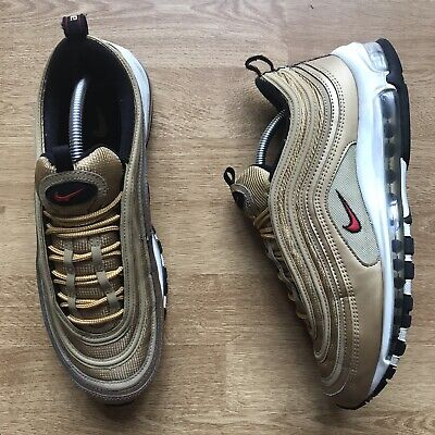 NIKE AIR MAX 97 gold and black size UK 10 EUR 156,51