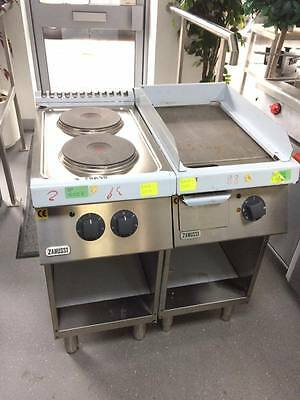 Zanussi Hot Plate And Griddle 3 Phase With Stands