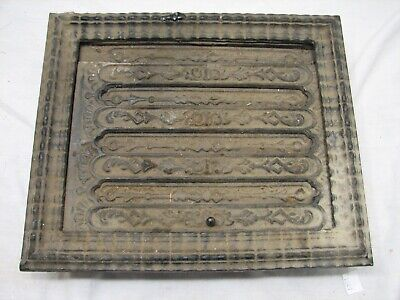 Victorian Cast Iron Floor Ornate Register Heat Slide Grate Vent Grille 8 X 10