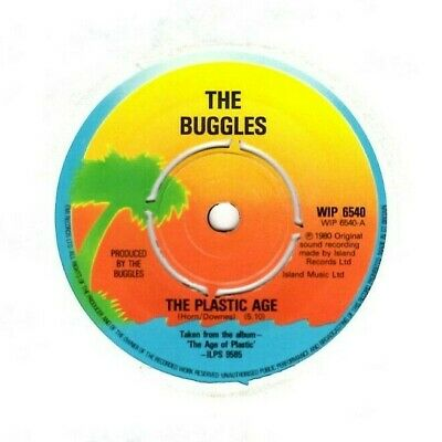 THE BUGGLES - THE PLASTIC AGE - ISLAND Vinyl 7 Inch 1980 HORN/DOWNES/YES