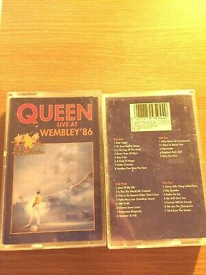 Queen Live At Wembley 1986 Double Cassette Tapes