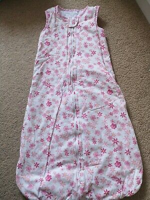 Baby Girls Pink Floral sleeping bag from Tu 12-18 Months 1.5 tog