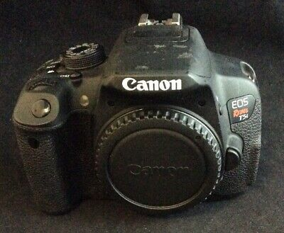 Used Canon Black EOS Rebel T5i 18MP Digital SLR Camera with 18-55mm Lens.