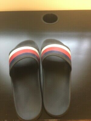 3721ef6ad Gucci Slides Mens Size 9 Black White Blue Red - Pursuit '72 Rubber Slide  Sandal