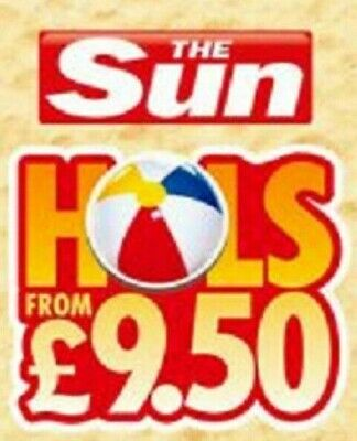 The Sun £9.50 Holidays Online Booking Codes ALL 10 Token Codewords Fast Delivery
