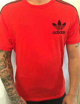 adidas mens originals california tee t-shirt red new bk7544 uk size medium