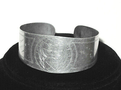WWII 20th AIR FORCE ~ TINIAN ~ JULY 1945 ~ RARE ENGRAVED TRENCH ART BRACELET