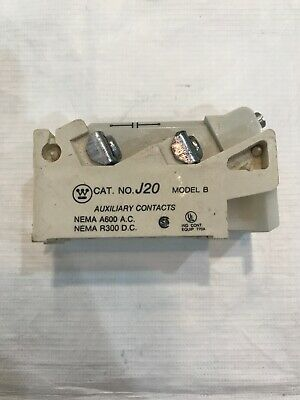Westinghouse J20  Auxiliary Contact Model B