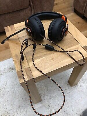 ADX FIRESTORM A01 Gaming Headset - Black & Orange PC MAC PS4 Wired