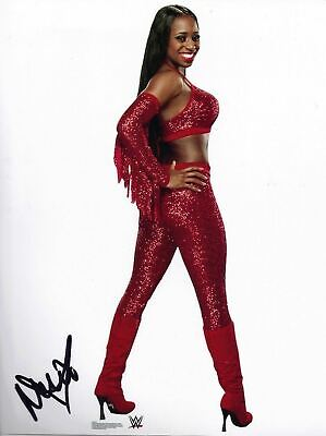 Naomi Signed 10X8 Photo WWE WWF UFC Genuine Signature AFTAL COA (7038)