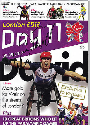 David Weir Genuine Hand Signed Paralympic Programme London 2012