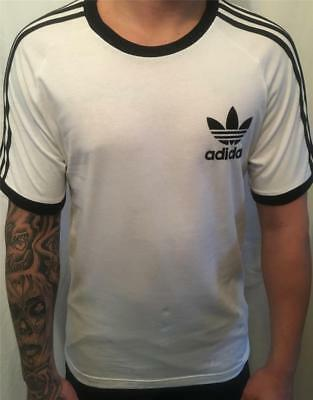 adidas mens originals california tee t-shirt white new az8128  uk size large