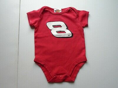 WINNERS CIRCLE Boys size 3-6 mo Cute #8 RACING One-Piece Tee