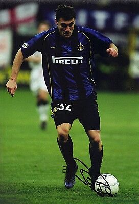 Christian Vieri Signed 12X8 Photo Inter Milan & Italy ITALIA AFTAL COA (1902)