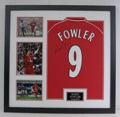 Robbie Fowler Signed & Framed Liverpool F.C. Jersey Genuine Signature AFTAL COA