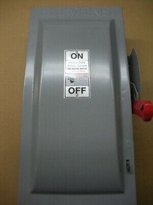 100 Amp 600 volt fusible disconnect Siemens HF363 NEMA 1 3 pole 6 available