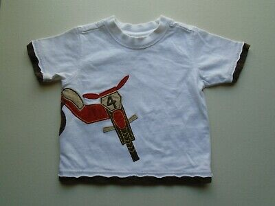 GYMBOREE Boys size 3-6 mo Cute DIRT BIKE Tee