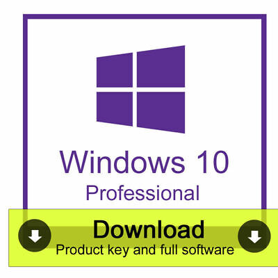 Genuine Windows 10 Professional Pro Key 32 / 64Bit Activation License Key 1Pc