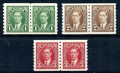 Weeda Canada 238-240 VF MNH set of KGVI Mufti issue coil pairs CV $72