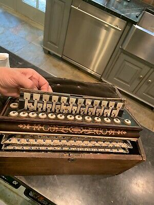 1870's According Muscial Instrument In Original Box