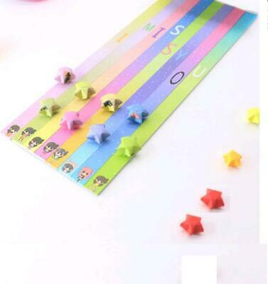 136 pieces - 8 color comb ORIGAMI LUCKY STAR PAPER - one month special
