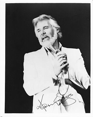 Kenny Rogers Signed Photo Vintage country Music Singer Lady Gambler Islands Rare