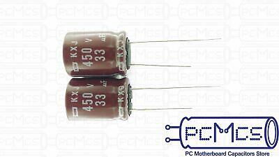 6 Pcs of Nippon ChemiCon NCC KXJ 450V 33UF electronic ballast circuits Capacitor