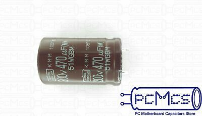 1 Pcs of NCC 200V 470UF KMM Low Profile Snap in Japan Made Capacitor 22x35