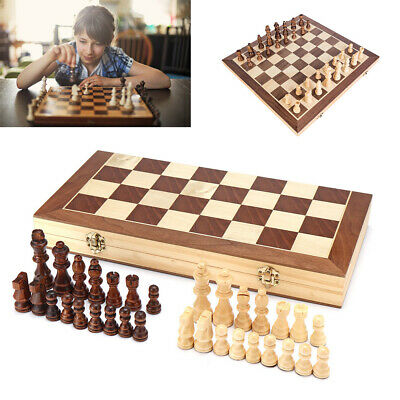2019 Large Chess Wooden Set Folding Chessboard Magnetic Pieces Wood Board