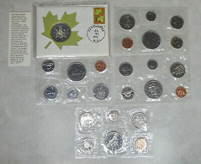 1969, 1972, 1978, 1984 Canada Proof Like Mint Sets Uncirculated Coin Sets