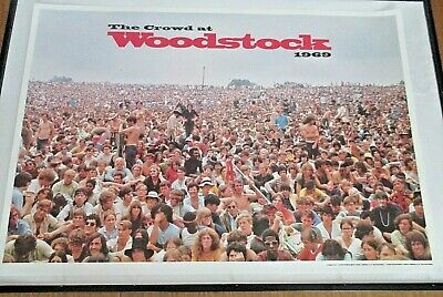 Woodstock Poster The Crowd at Woodstock 1969, color by Shelly Rusten 22 x 32